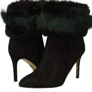 Sam Edelman Fur Booties Ankle Boots Furry Heeled